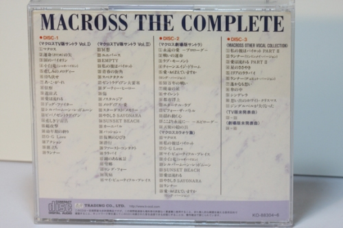 CD Rear Cover, songlist